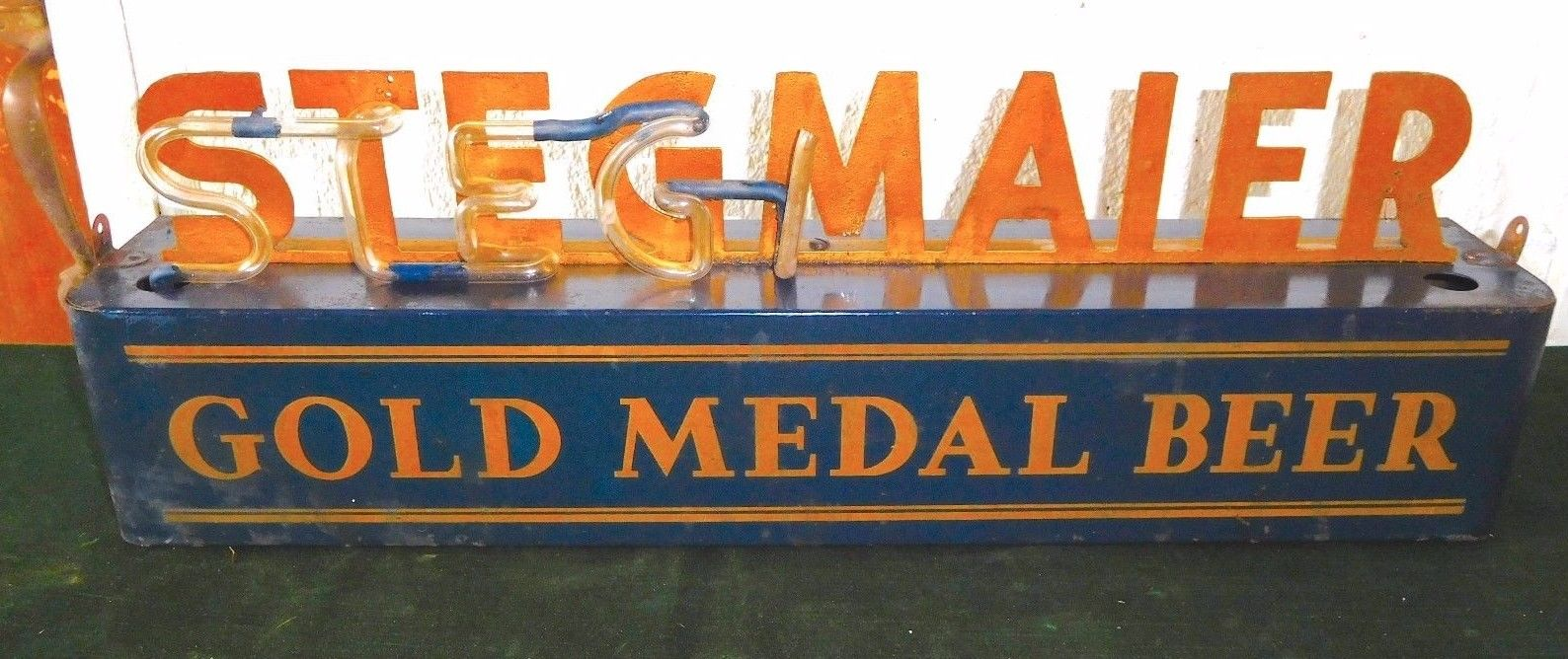 Stegmaier Gold Metal Beer Neon Sign
