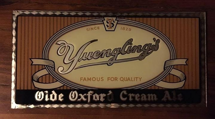 Yuengling's Olde Oxford Cream Ale Glass Sign