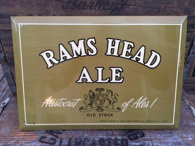 Rams Head Ale Sign