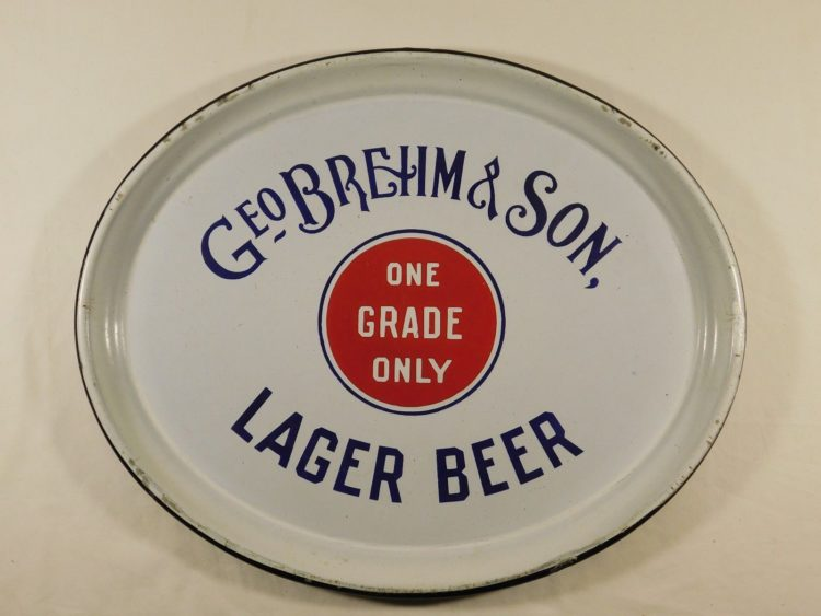 Geo Brehm & Son Lager Beer Tray