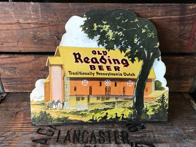 old reading beer barn sign kirby-coggeshall-steinau co