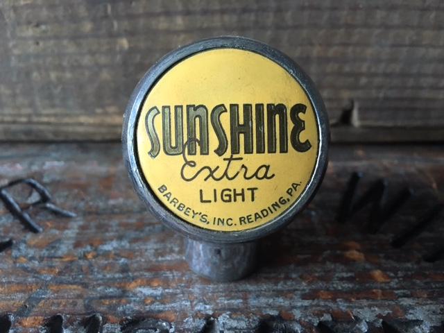 sunshine extra light beer ball tap knob robbins