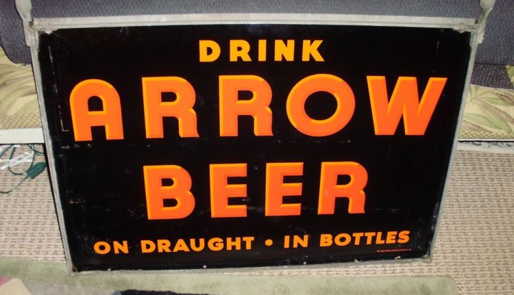 Arrow Beer Porcelain Sign