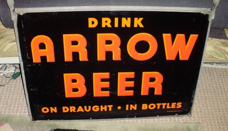 Arrow Beer Porcelain Sign