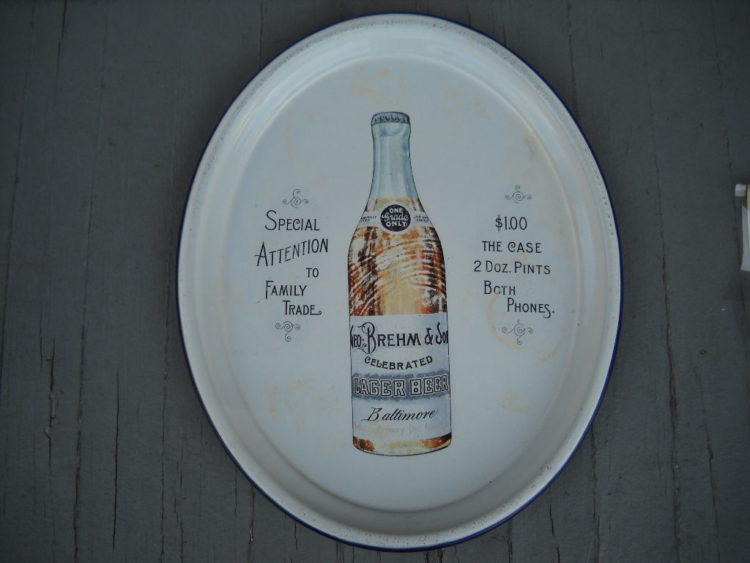 George Brehm & Son Porcelain Lager Beer Tray