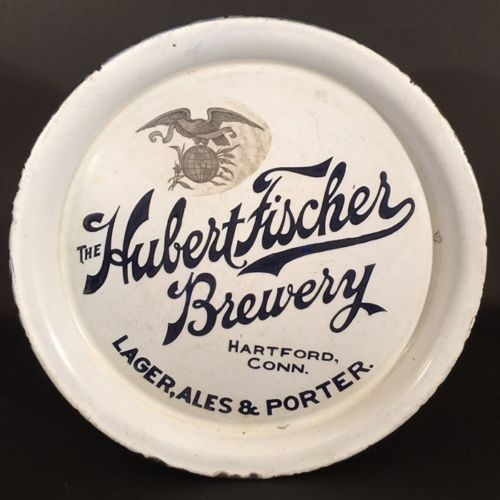 Hubert Fischer Brewery Porcelain Beer Tray