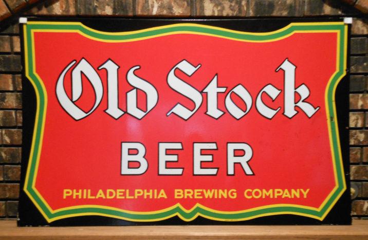 old stock beer philadelphia brewing company veribrite sign company
