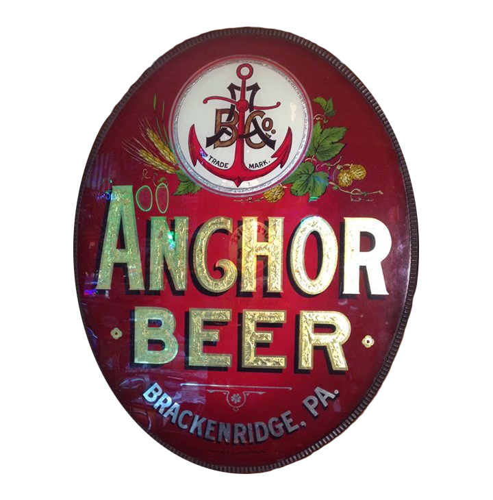 Anchor Beer Glass Sign
