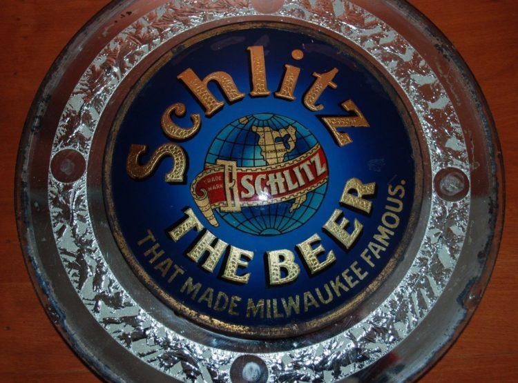 Schlitz Beer Glass Sign