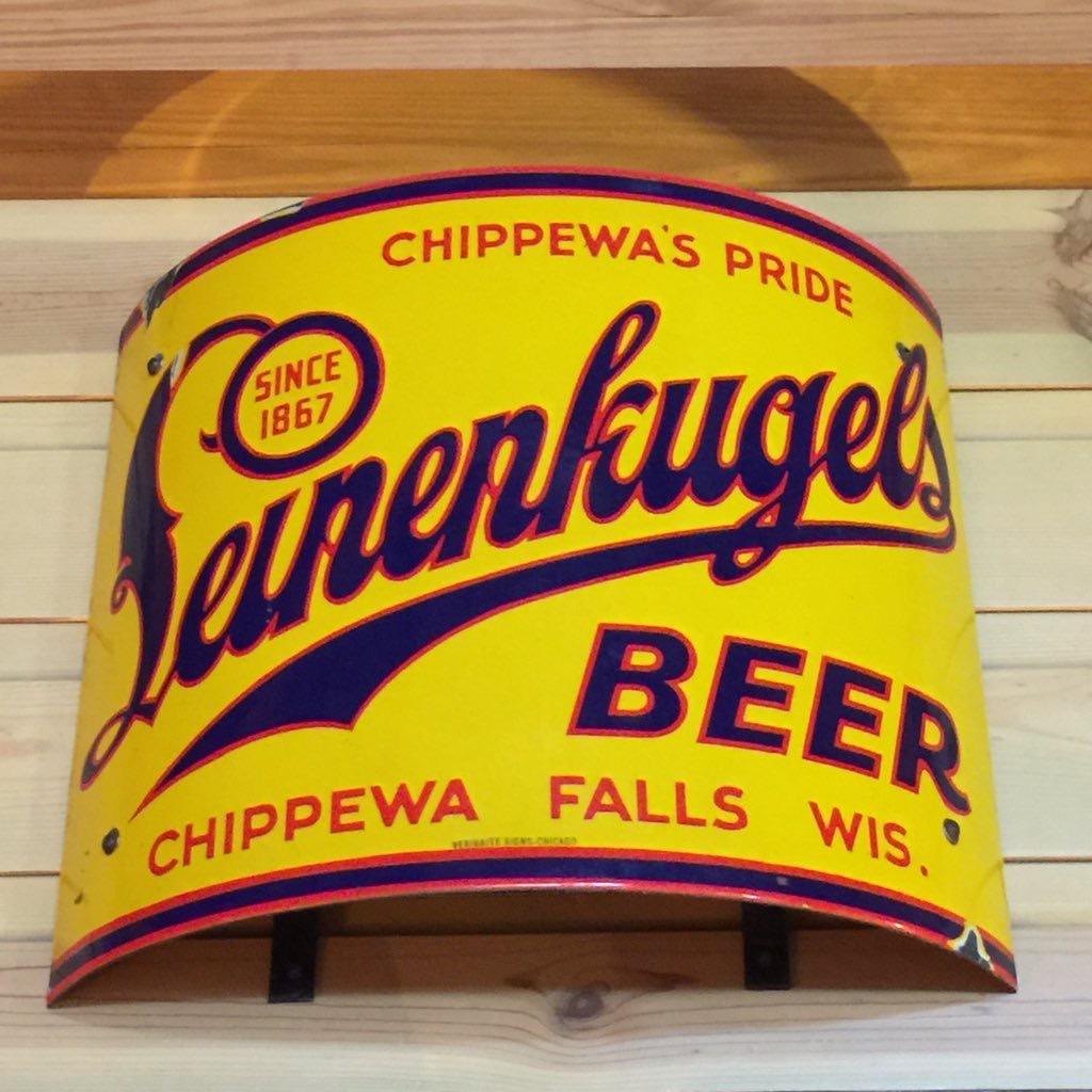 leinenkugels beer curved porcelain sign veribrite sign company