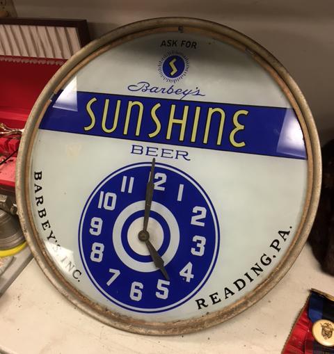 Barbey's Sunshine Beer Clock