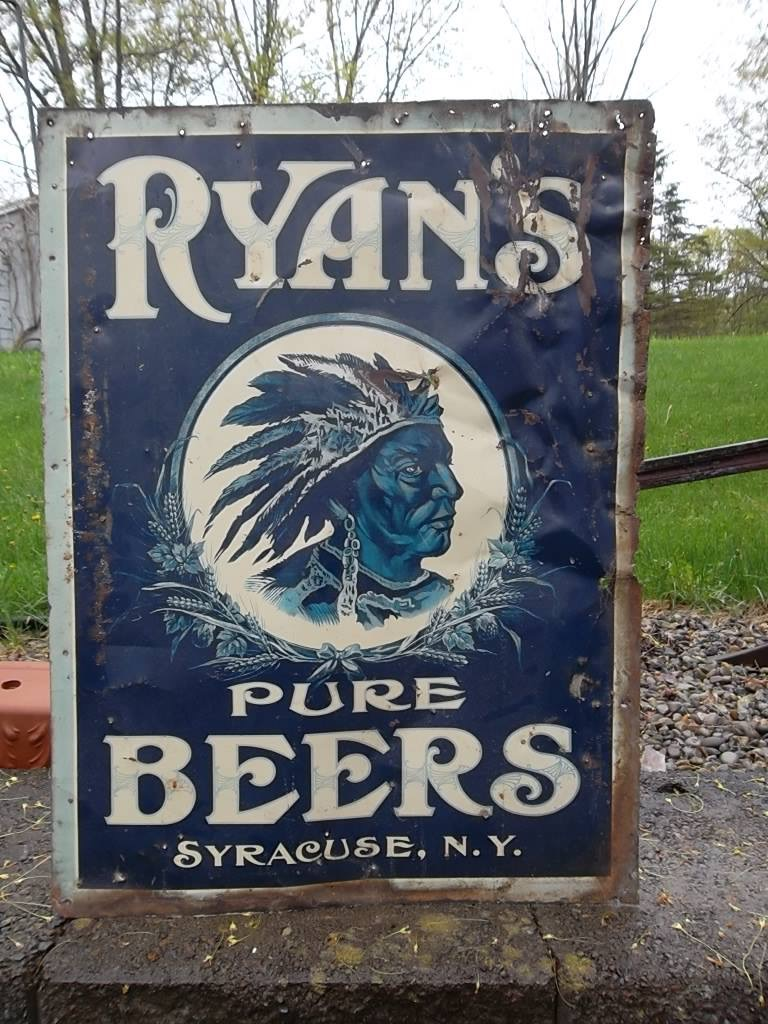 Ryan's Pure Beers Sign