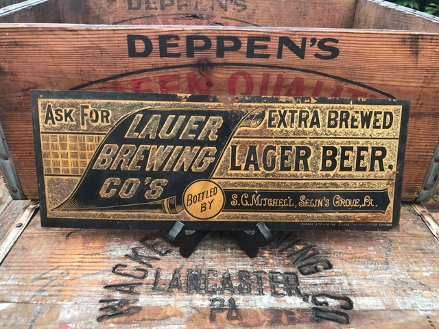 Lauer Lager Beer Sign