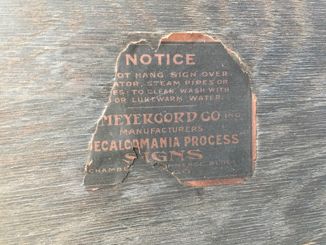 meyercord company chicago sign label