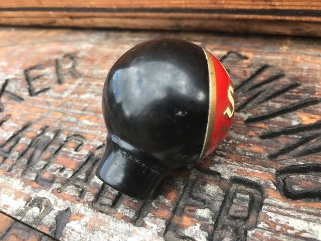old stock beer philadelphia ball tap knob daka-ware