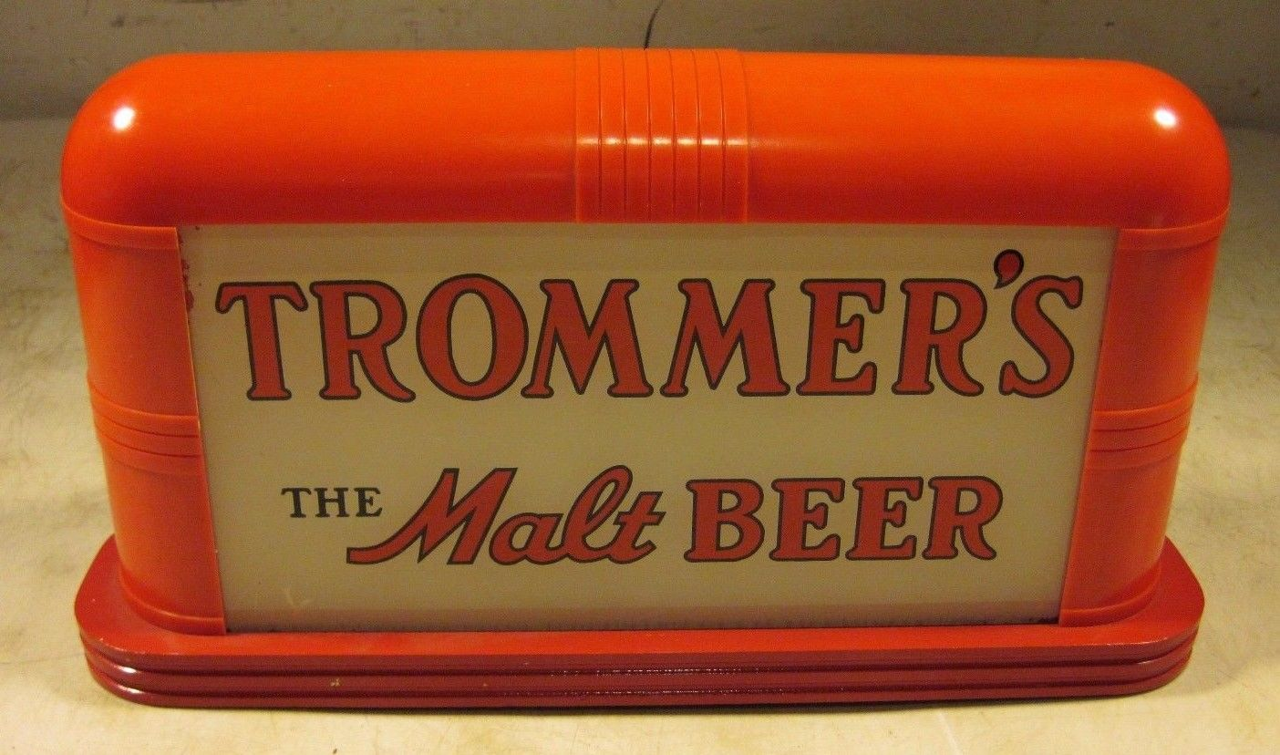 trommers malt beer gillco lighted sign