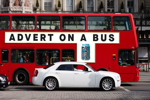 Image result for brewdog advert on a bus
