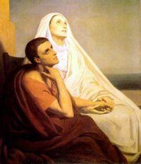 Święta Monika i jej syn, św. Augustyn