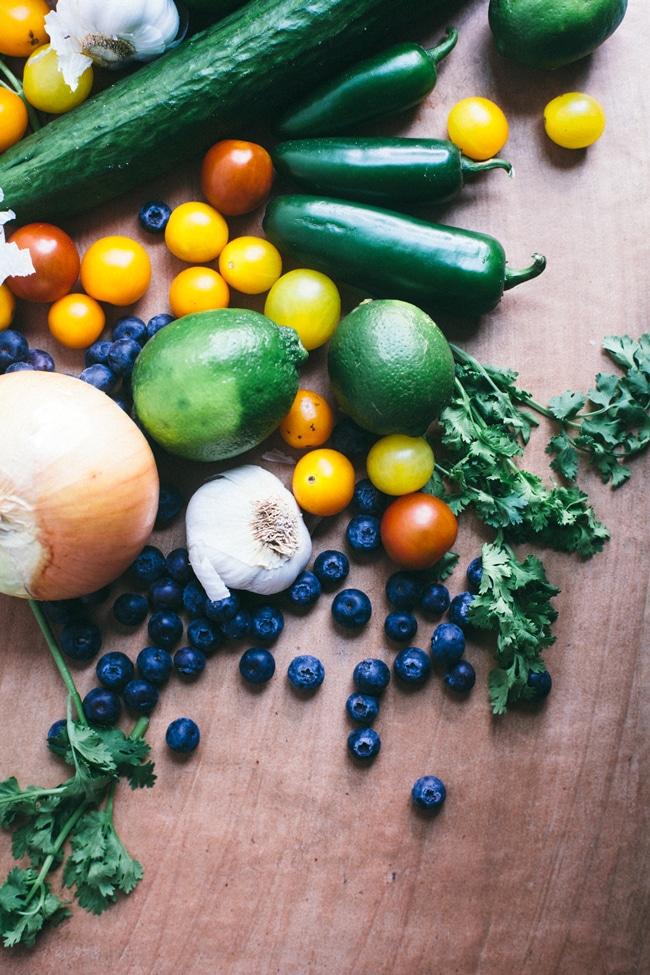 blueberry cucumber pico de gallo