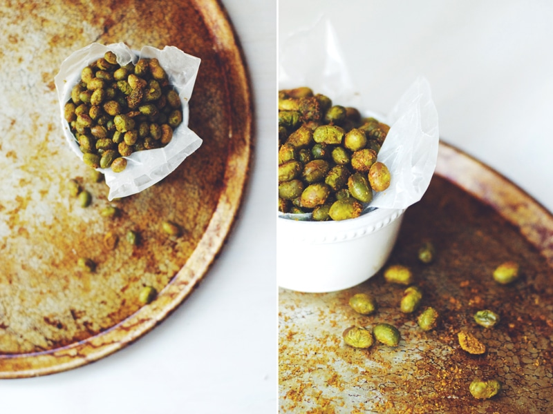 Curry Roasted Edamame (v/gf) ||| Brewing Happiness