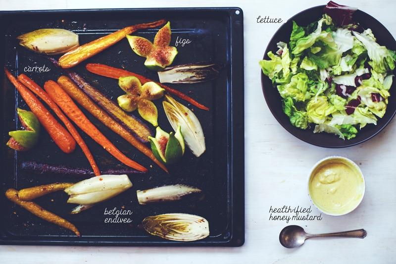 Honey Roasted Summer Salad Ingredients