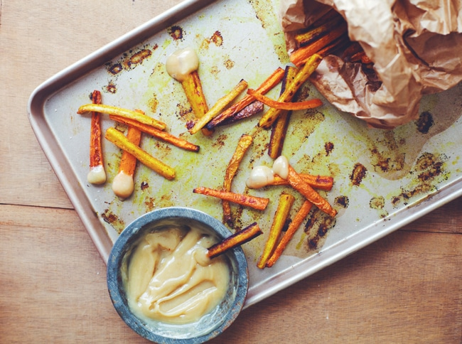 carrot fries with aioli