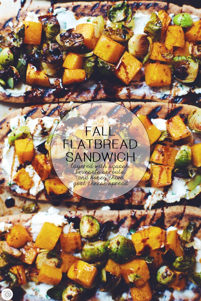 serve it flat or fold it in half, either way you have the best Fall flatbread ever