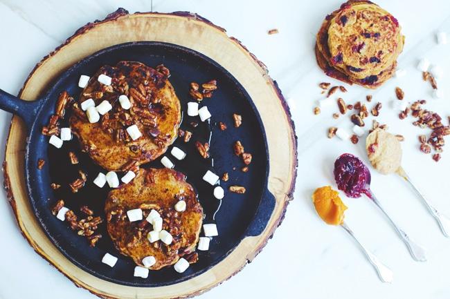 Pumpkin Cranberry Pancakes | Thanksgiving Leftovers