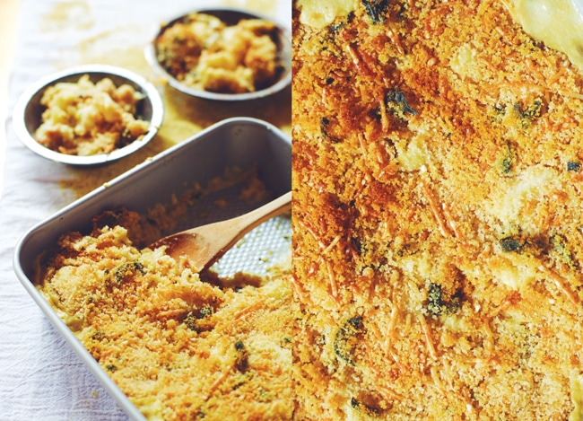 warm, gooey, and guiltless - healthy cauliflower gratin