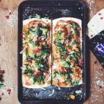 winter pizzas made with flatout pizza crusts