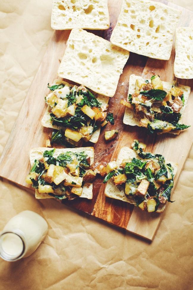Kale & Potato Swiss Cheese Melt with Sweet Onion Dressing