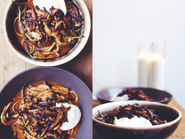 delicious mushroom & zucchini pasta