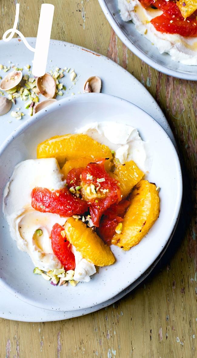 Heartbeet Kitchen Roasted Citrus Bowls with Honey Mascarpone