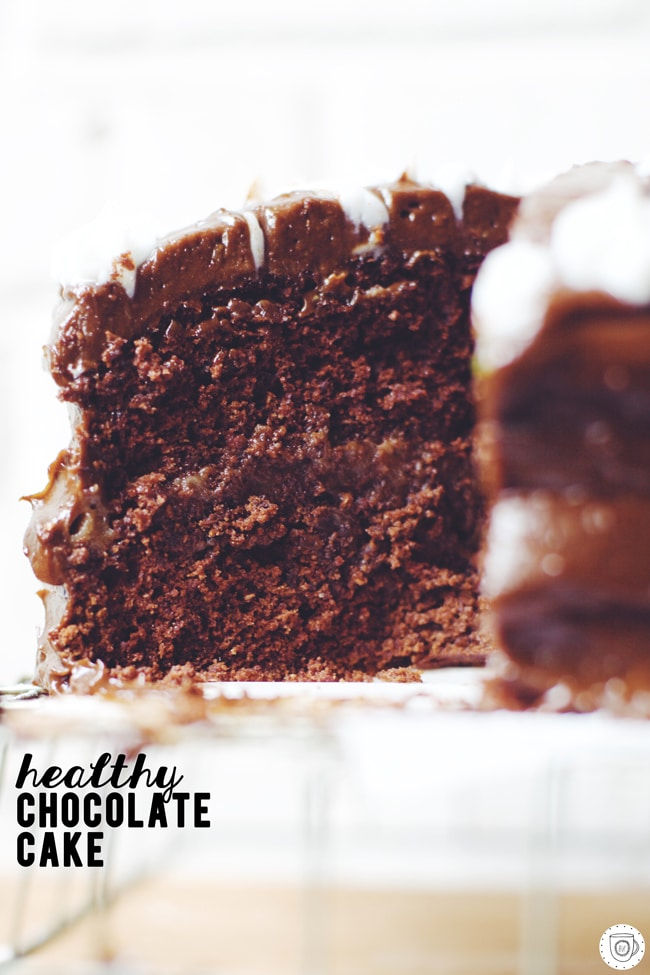 chocolate cake made with salted date caramel and avocado chocolate buttercream! (Made with T-Sugars Icing Sugar Mill gourmet powdered sugar) #bakethedifference #celebratehealthier