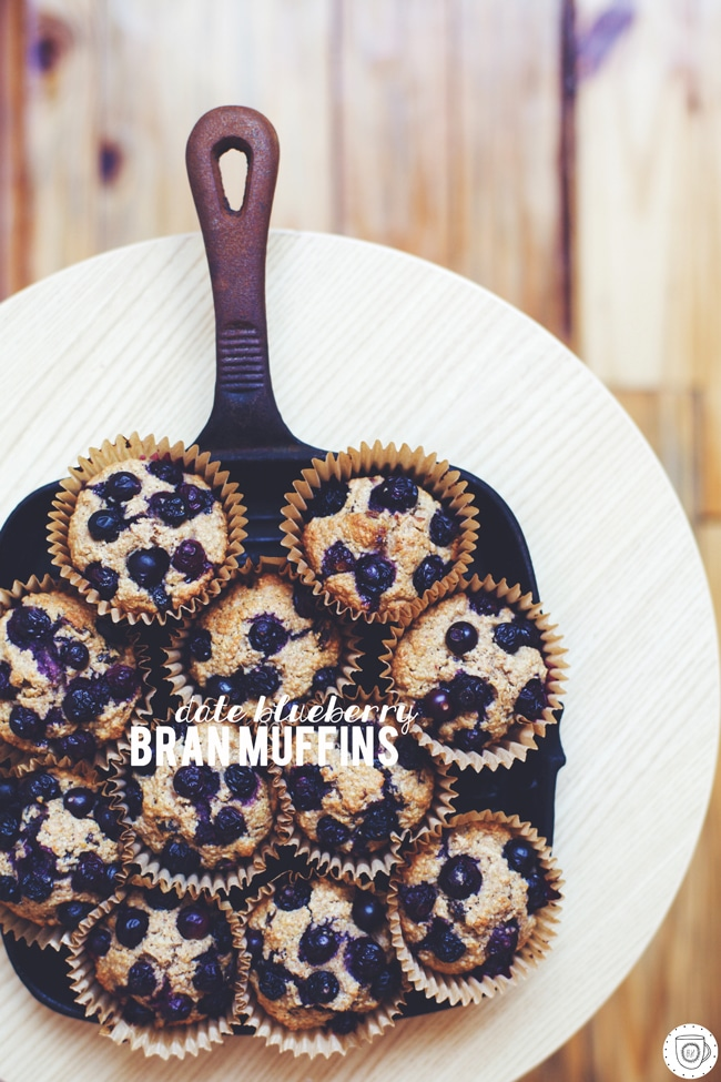 date blueberry (and raisin!) bran muffins