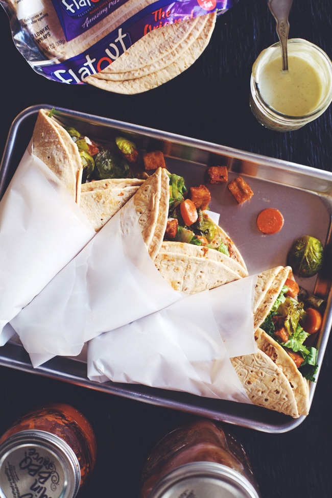 FlatOut Flatbread makes a great southern inspired dinner wrap