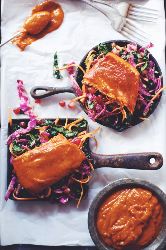 bbq salmon with superfood slaw