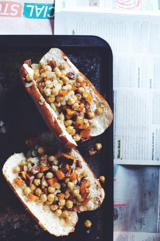 sweet potato chickpea gruyere sandwich
