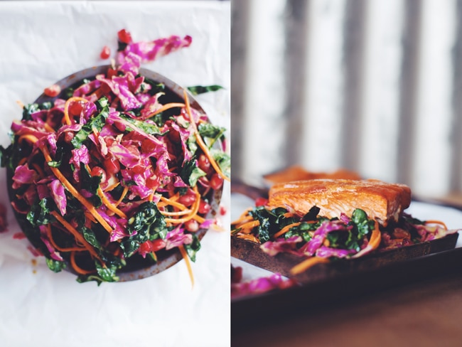 superfood slaw is delicious with bbq salmon
