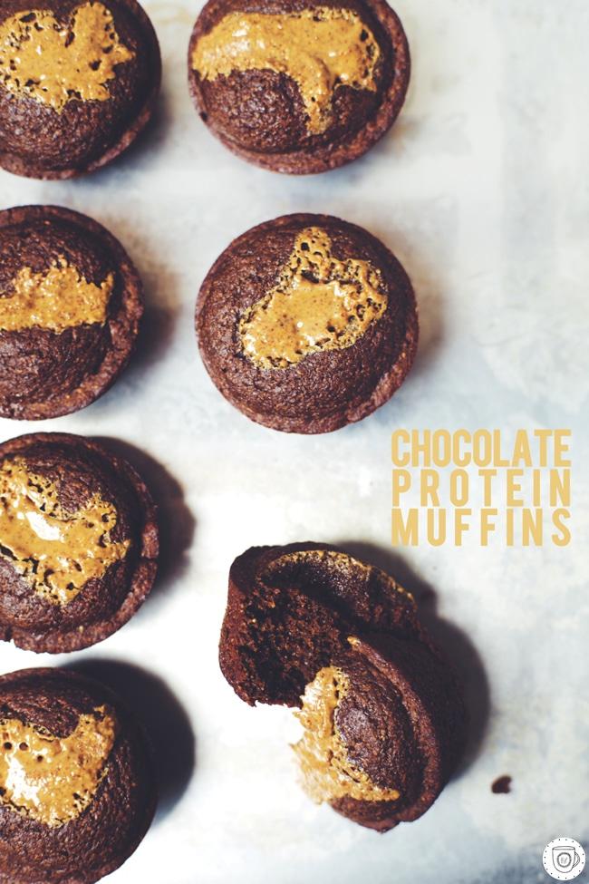 healthy chocolate protein muffins #vegan