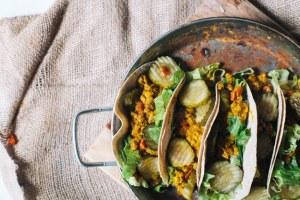 health-ified cheeseburger taco