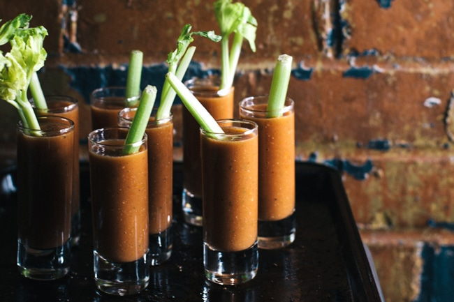 bloody mary gazpacho shooters