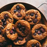 fruit-filled blueberry blackberry muffins