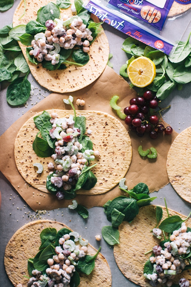 The easiest vegetarian lunch wrap ever!