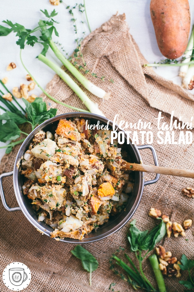 a healthy potato salad for summer picnics or potlucks!