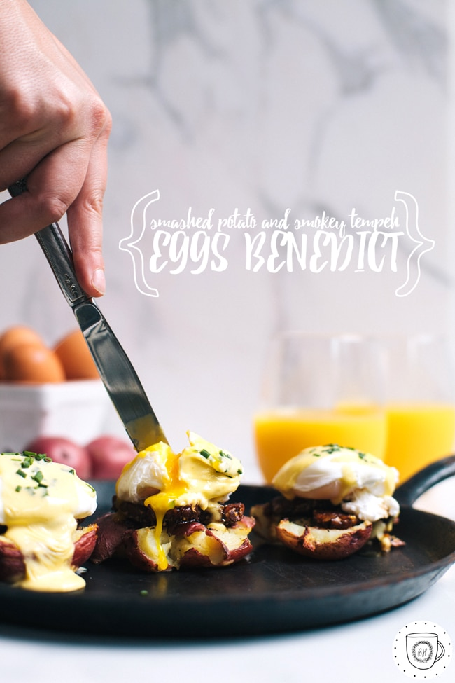 a slightly health-ified version of eggs benedict