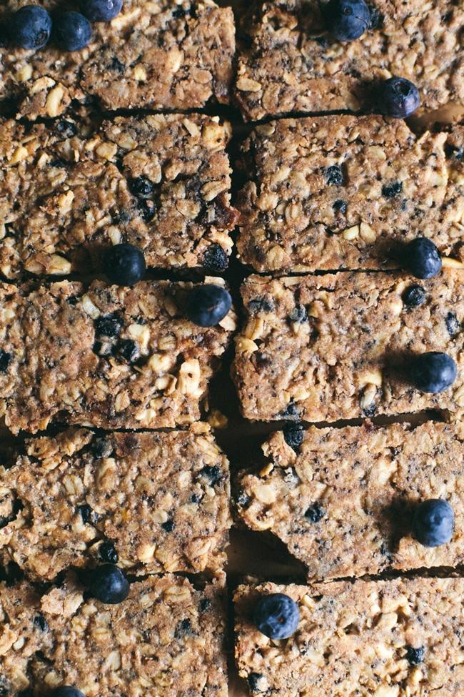 blueberry granola bars
