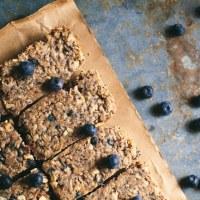 baked blueberry granola bars