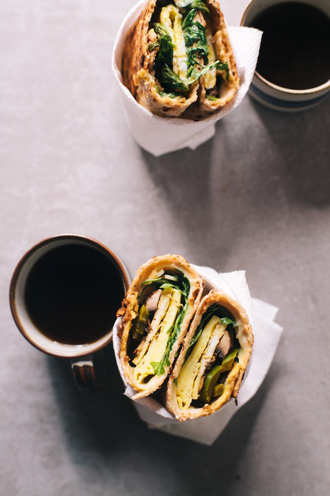 the perfect breakfast wrap