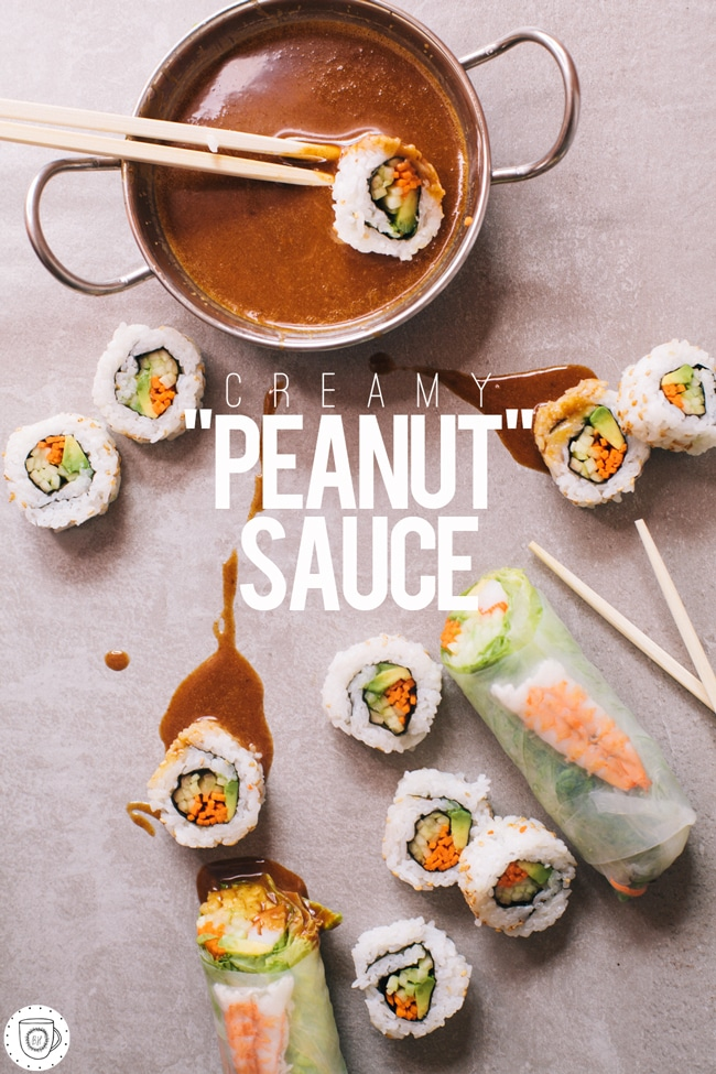 peanut sauce with no peanuts in sight!